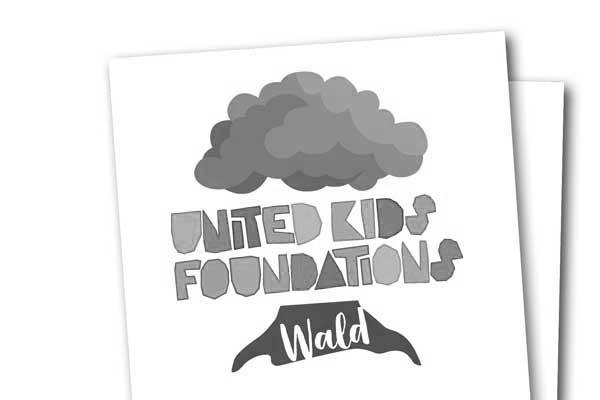 Buntes Logo der Kids Foundation Wald