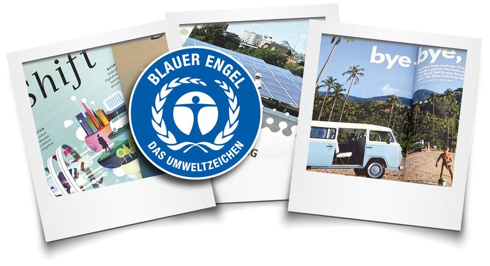 Produktbeispiele Blauer Engel DE-UZ195