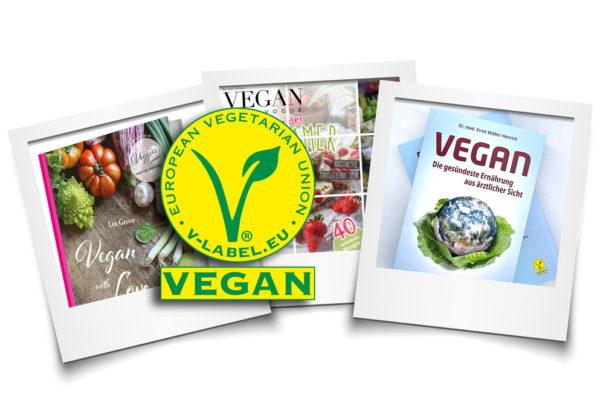 Beispiele für für vegan Drucken mit V-Label